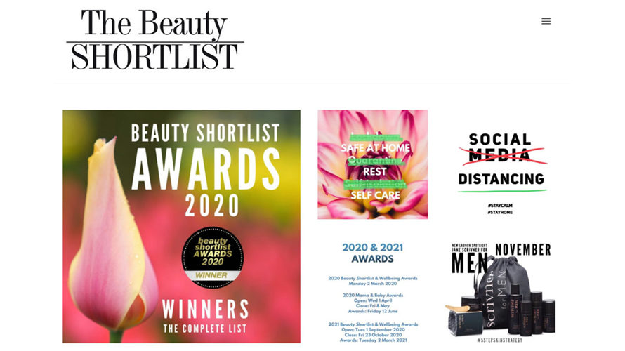 The Beauty SHORTLIST AWARDS 2020